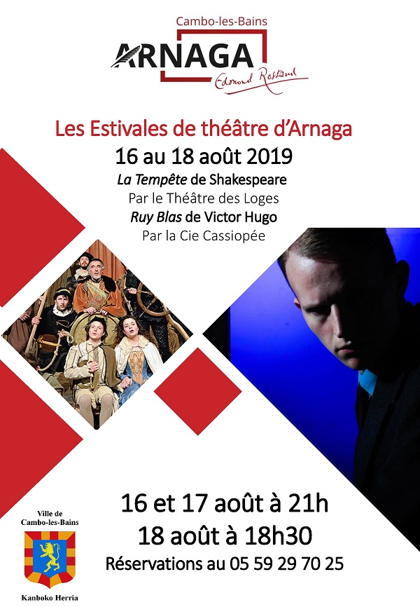 Affiche Estivales Theatre Arnaga