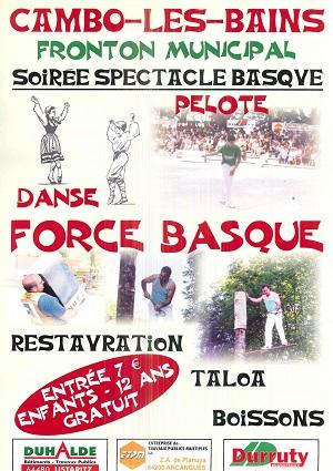 Affiche Soiree Basque