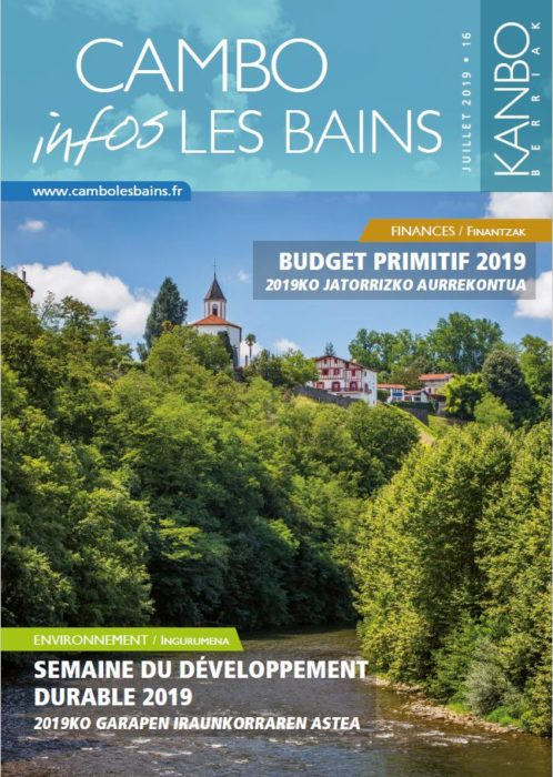 Couv Bulletin N16 Juillet 2019 Cambo Les Bains