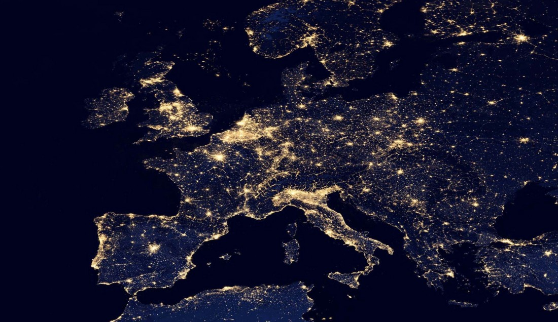Image Satellite Europe Nuit