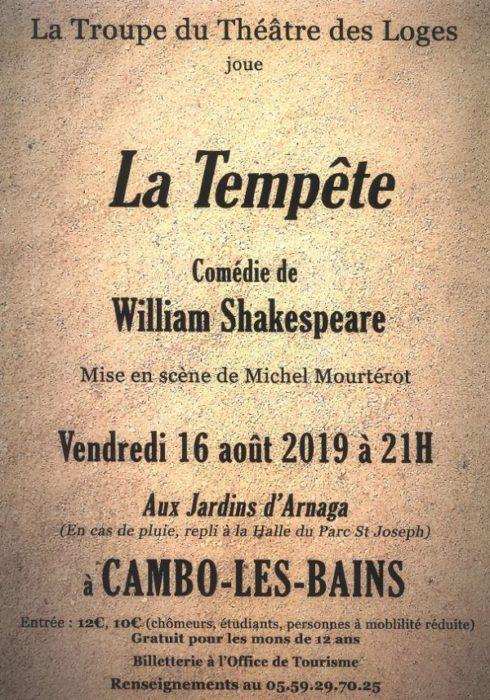 Tempete de Shakespeare - Arnaga Cambo-les-bains