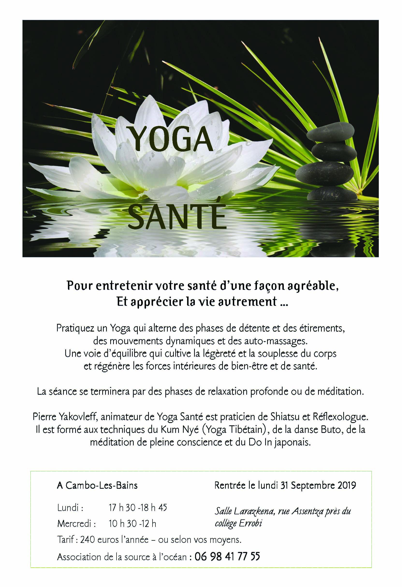 Yoga Sante Cambo Les Bains