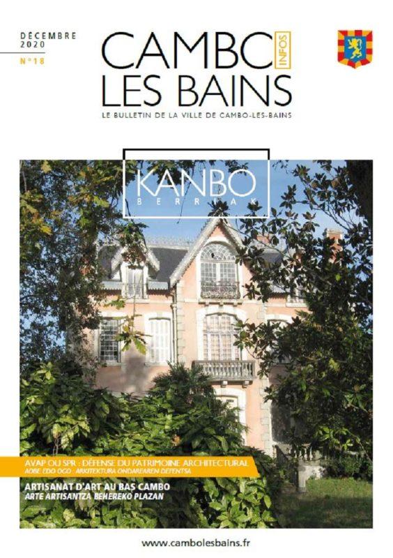 Couv Bulletin N18 Décembre 2020 Cambo Les Bains - Feuilleter en ligne dans le site Calaméo (nouvelle fenêtre)