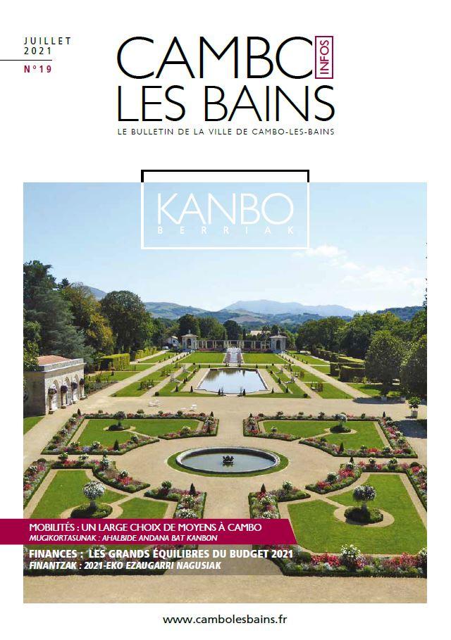Couv Bulletin N19 Juillet 2021 Cambo Les Bains